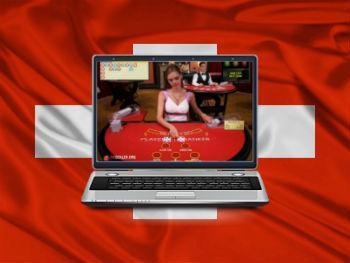 drapeau suisse casino ordinateur croupiere